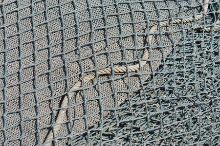 old fishing nets closeup photo