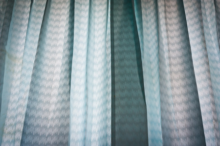 Blue drapes for background or texture photo