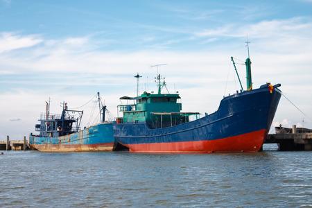dockyard: The Big boat of oil tanker Stock Photo
