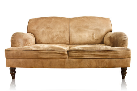old sofa on white background 写真素材