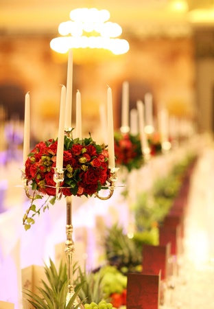 banquets: Table at Hotel Party