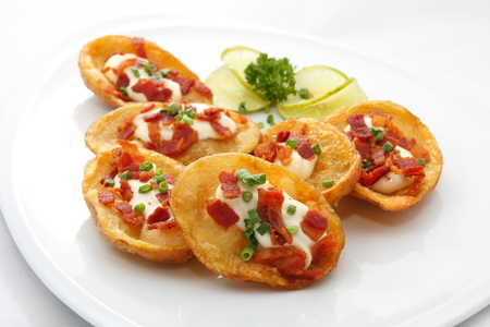 potato skins, casual appetizer  Stock Photo