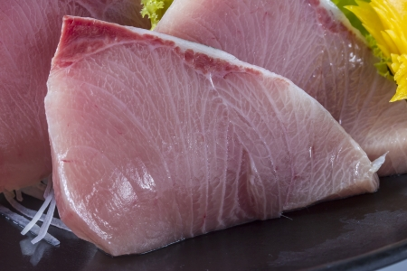 hamachi sashimi, Japanese raw fish