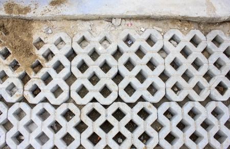 Cement blocks texture Stock Photo