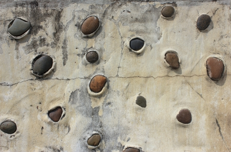 wall pattern of gravel stone photo