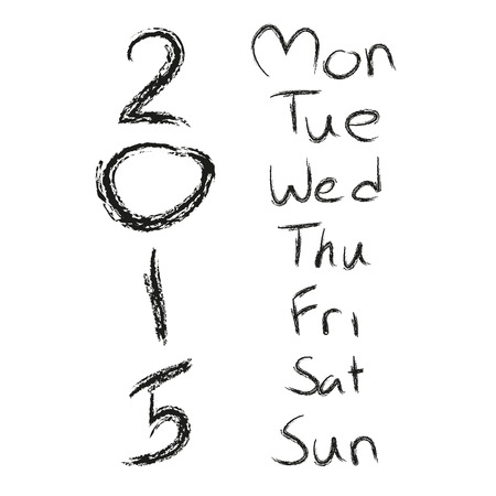 weekly planner: Monday to Sunday Illustration