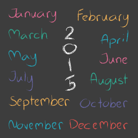 months of the year: Months of the Year 2015