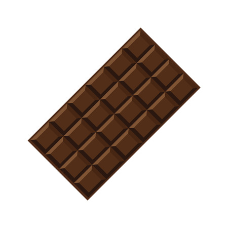 Vector illustration. The chocolate bar isolated on the white. Illustration