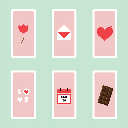 Happy Valentines day. Vector illustration. Vector