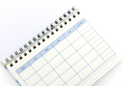 weekly: written on a weekly Stock Photo