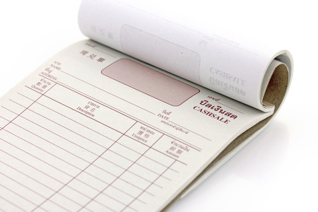 invoice book, bill pad template