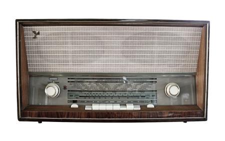 shortwave: Old radio on white background Stock Photo