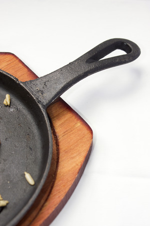 leftovers: Empty pan with leftovers