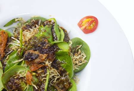 Fresh salad sprinkle fish