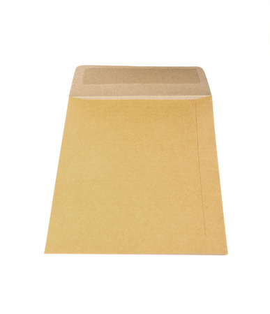 dispatch: Brown Envelope document on white background