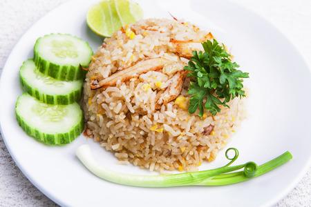 crab fried rice Stock Photo