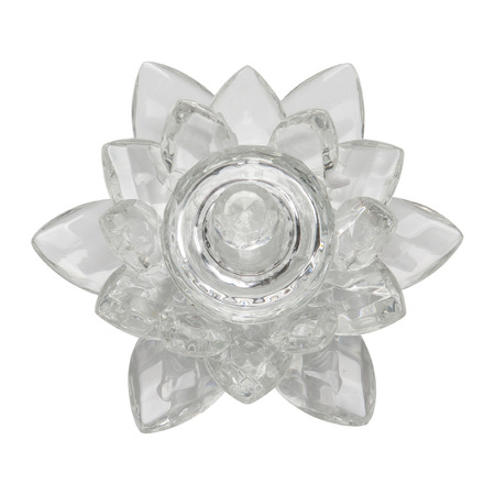 crystal background: Crystal lotus on white background