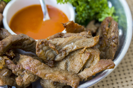 Fried pork Stock Photo