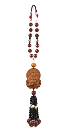 dogma: Religion buddha necklace isolated on white background Stock Photo