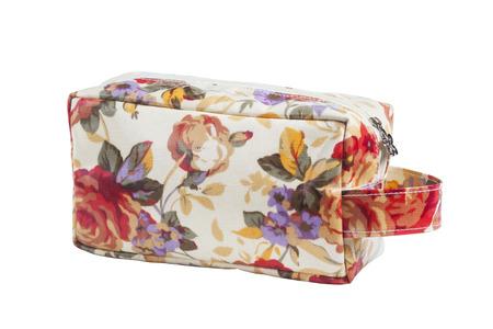 cosmetics bag: Cosmetics Bag Isolated on White Background