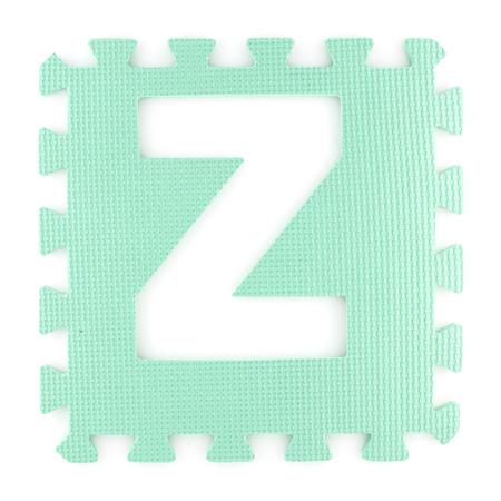 puzzle background: Alphabet puzzle pieces isolated white background
