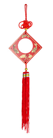 enhancer: Wind chime, the chinese feng shui isolated on the white background