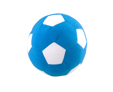 synthetic fiber: ball toy for kids made from synthetic fabrics isolated on white background