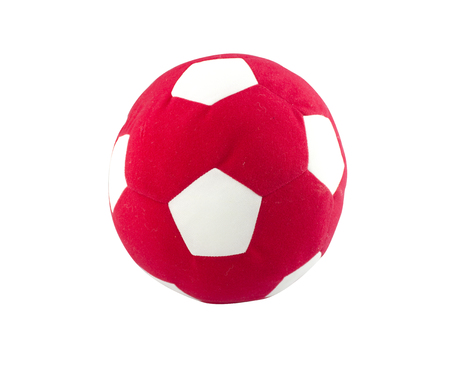 ball toy for kids made from synthetic fabrics isolated on white background