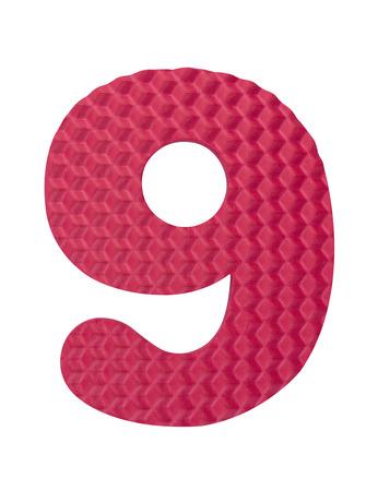 Number learning blocks isolated white background