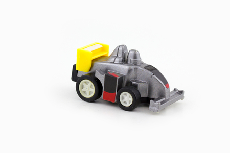 Toy car isolated over white Stock Photo