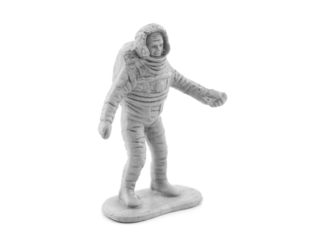 astronauts plastic toy Stock Photo