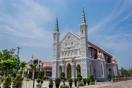 wat phra christ phra haruthai is a church in ratchaburi province, thailand. Stock Photo