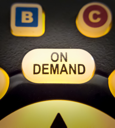Glowing on demand button on remote control