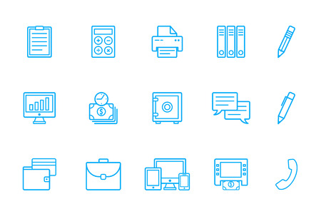 dolar: el banco iconos Vectores