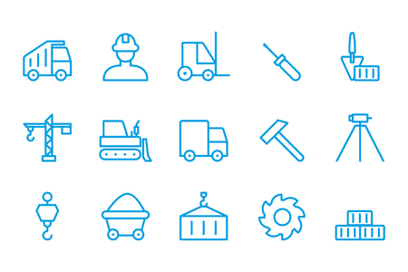 autotruck: Building icons Construction icons Illustration