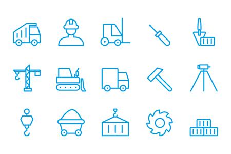 La creación de iconos Iconos de la construcción