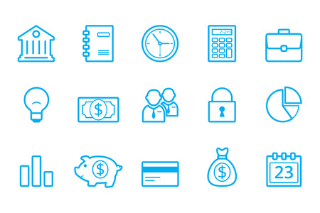 light duty: Bank line icons