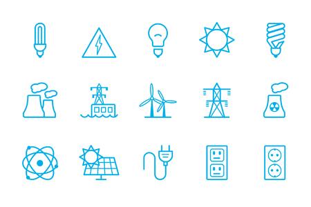 energysaving: Energy icons line