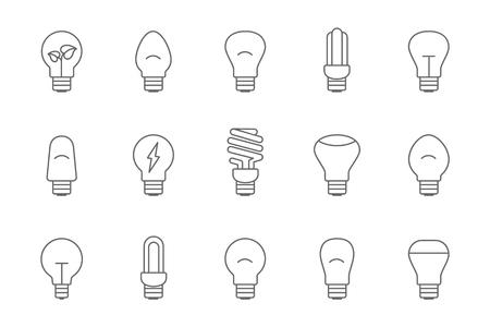 light bulbs: light bulbs line Illustration