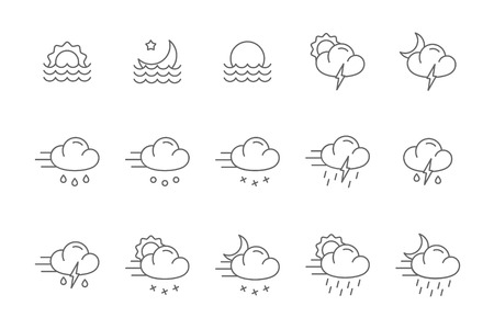 drizzle: weather icons line