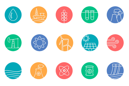 generators: fuel and generators icons