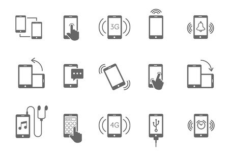 functions: phone functions icon Illustration