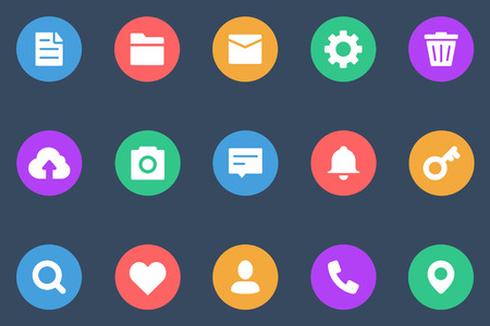 take charge: Miscellaneous icons flat