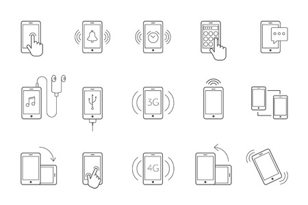 function key: mobil functions icon line