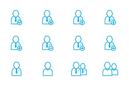 people, users icon line