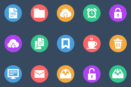 miscellaneous: Miscellaneous icons flat