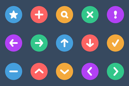 button set: navigation flat