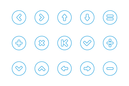 lay down: Signs Control Line icons