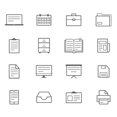 docket: office icons Line