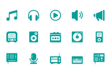 audio plug: Music icons